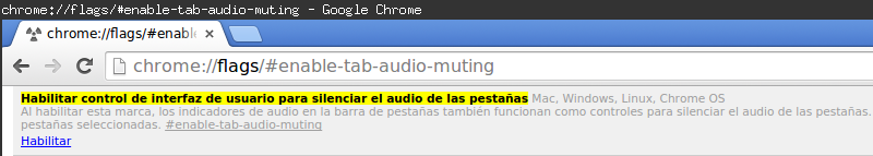 Chrome Mute Spanish