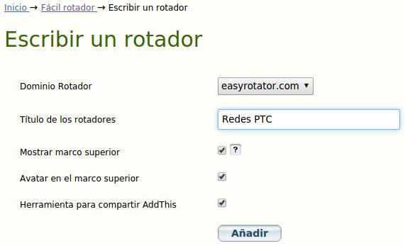 Rotador Fácil - Escribir un rotador
